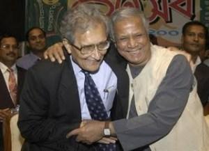 Amartya Sen e Muhammad Yunus